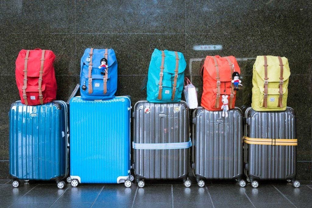 Valises et sacs à l'aéroport