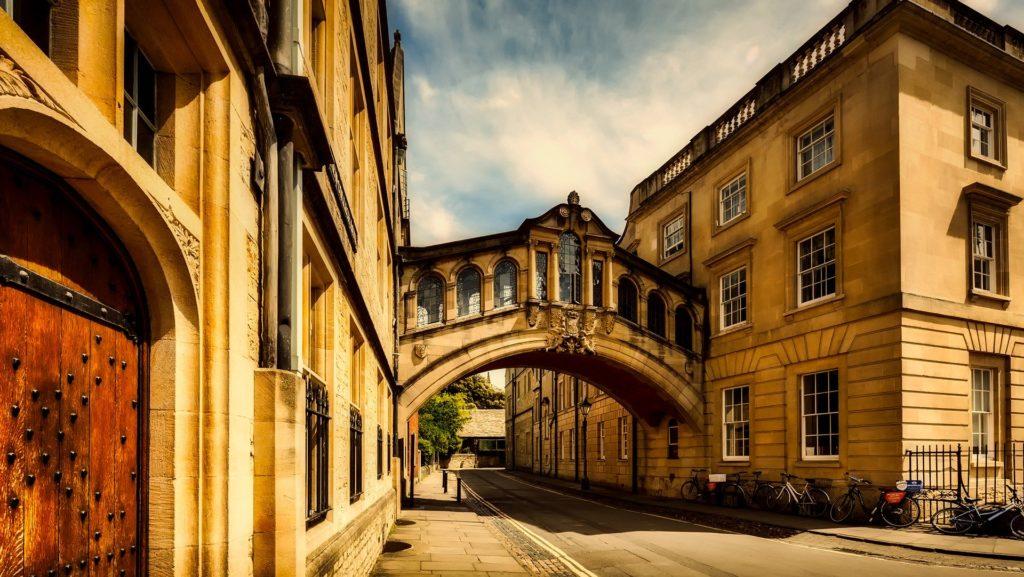 Le Pont des Soupirs à Oxford en Angleterre