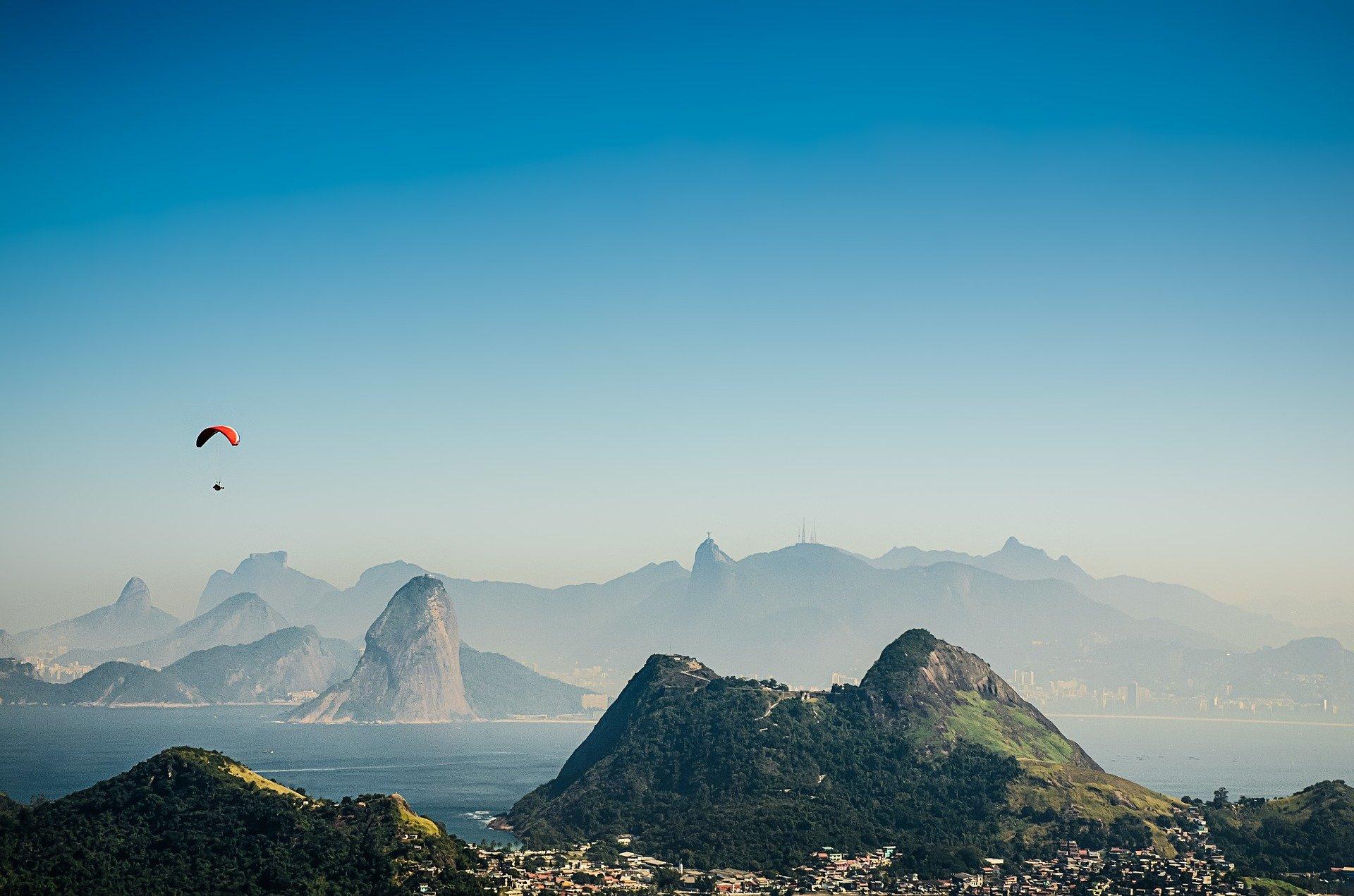 Rio de Janeiro au Brésil avec le Corcovado en arrière plan