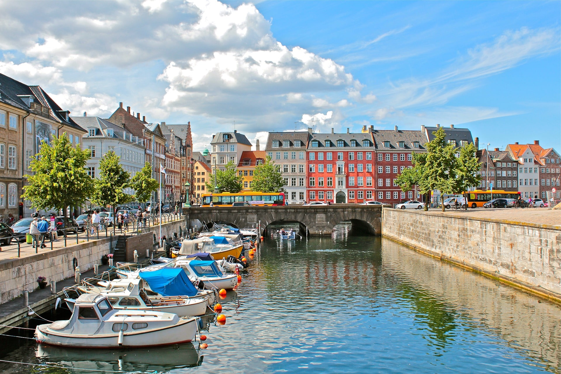 Copenhague, le centre historique et le canal, capitale du Danemark