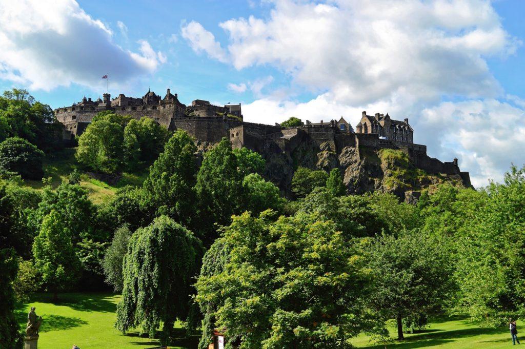 Le château d'Edimbourg, capitale de l'Ecosse