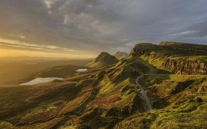 Le Quiraing, un paysage spectaculaire sur l'île de Skye en Ecosse