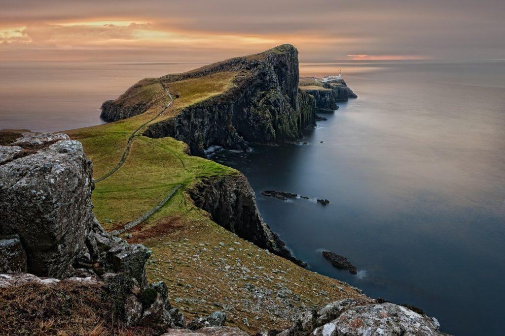 Neist Point et son phare sur l'île de Skye en Ecosse