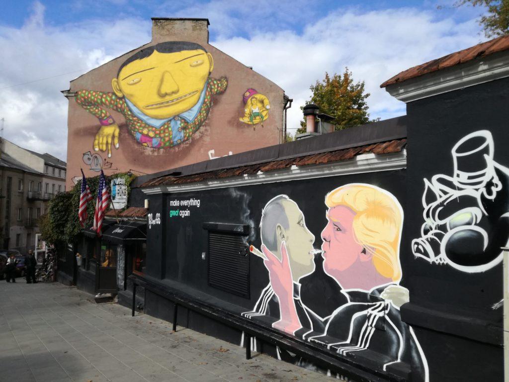 Le street art dans les rues de Vilnius en Lituanie
