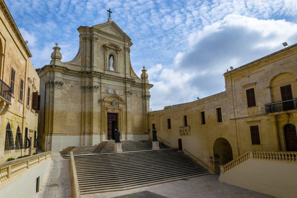 Cathédrale Victoria à Ir Rabat, capitale de Gozo, une des 3 îles de l'archipel de Malte