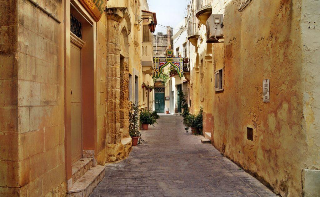 Les ruelles typiques de La Valette, capitale de Malte
