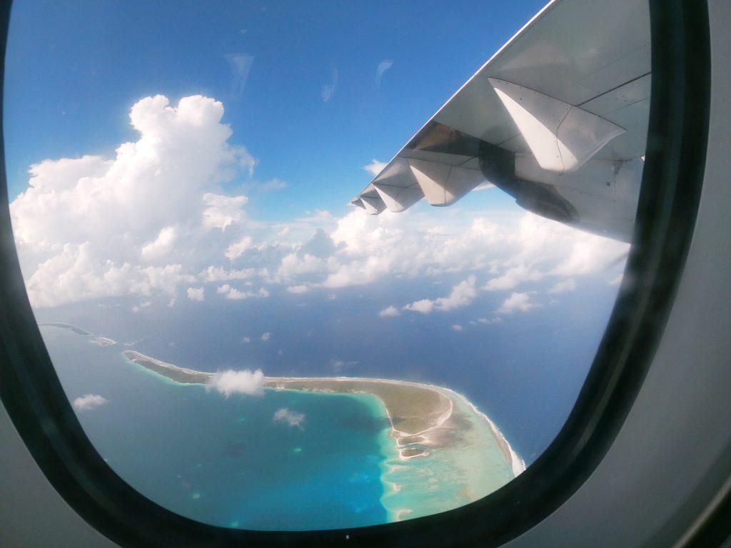 L'atoll de Fakarava, vue d'avion