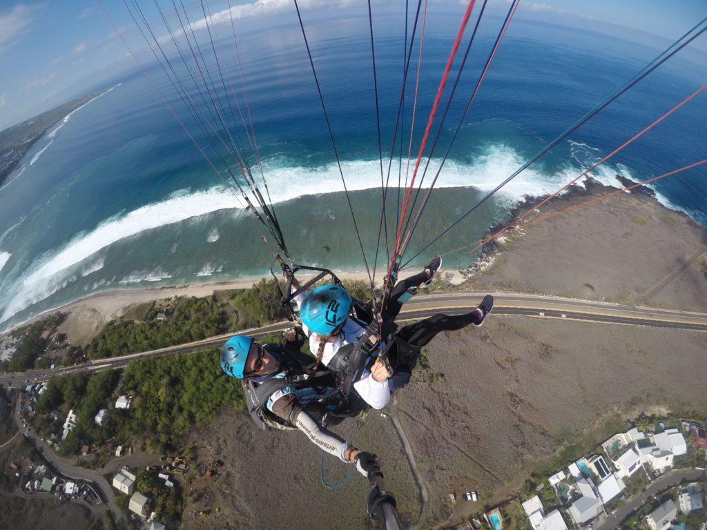 Parapente au dessus de l'île de la Réunion : Clotilde