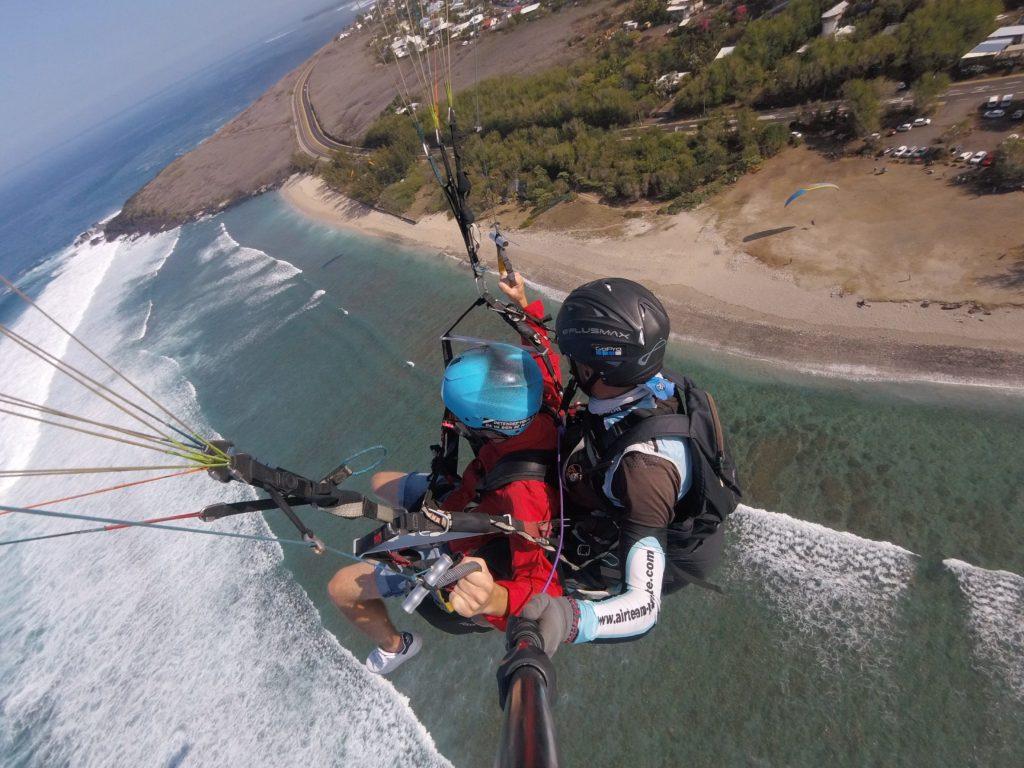 Parapente au dessus de l'île de la Réunion : Thomas