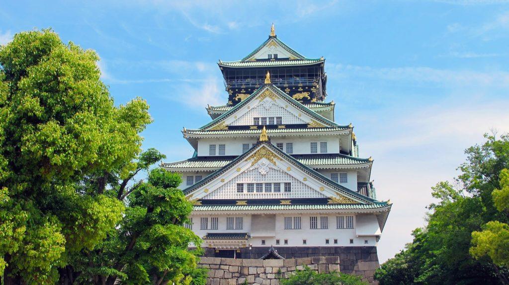Le château de Osaka au Japon