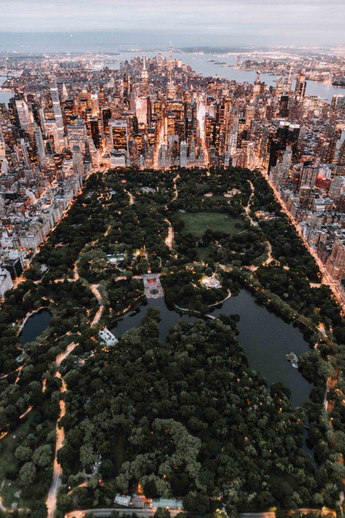 Central Park dans le quartier de Manhattan à New-York