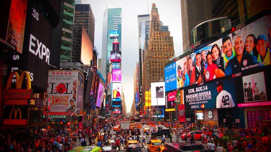 Le quartier de Time Square à New-York