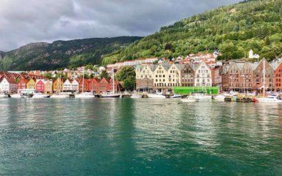 Les maisons tyiques de Bergen en Norvège