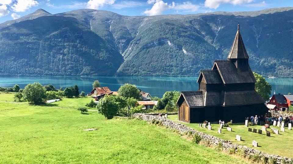 Eglise en bois à Urnes Stavkyrkje en Norvège