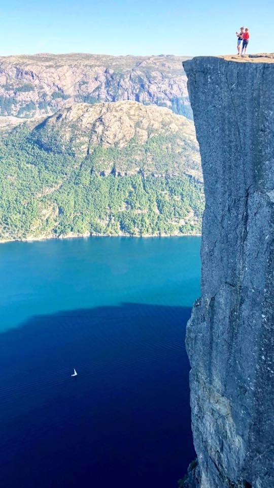 Preikestolen Lyserfjorden en Norvège