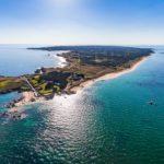 L'île d'Yeu vue du ciel - Vendée (85) - France